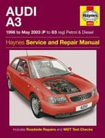 Haynes 4253 Workshop Repair Manual Audi A3 96 - May 03 Petrol DIesel